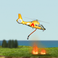 Онлайн игра Fire Helicopter