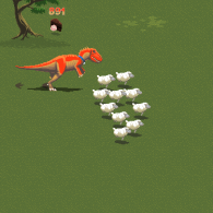 Online game One Man and His Dinosaur