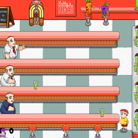 Онлайн игра Diner Tapper: Dash for the Super Smoothies