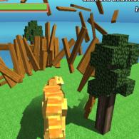 Online game Blocky Dino Park: T-Rex Rampage