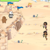 Online game We Bare Bears: Defend the SandCastle!